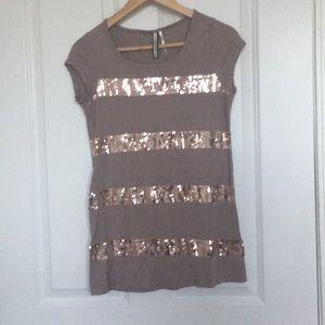 Rose gold sparkling shirt